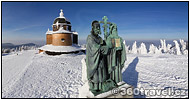 Play virtual tour - Sculpture of St Konstantin and Method in Winter