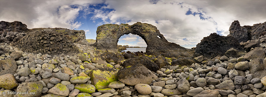 Play virtual tour - Gatklettur Stone Arch