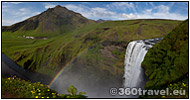 Show the Skógafoss Waterfall